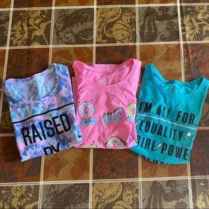 Justice short sleeve shirts size 10